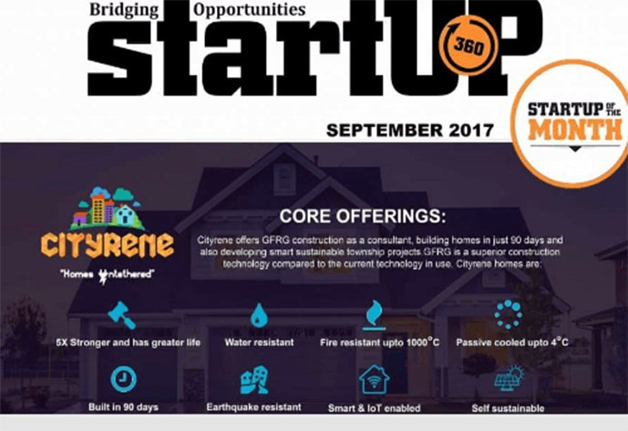 Startup360-startup of the month cityrene Builders